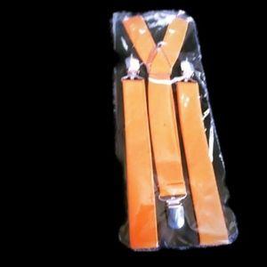 Halloween/costume Childs suspenders orange